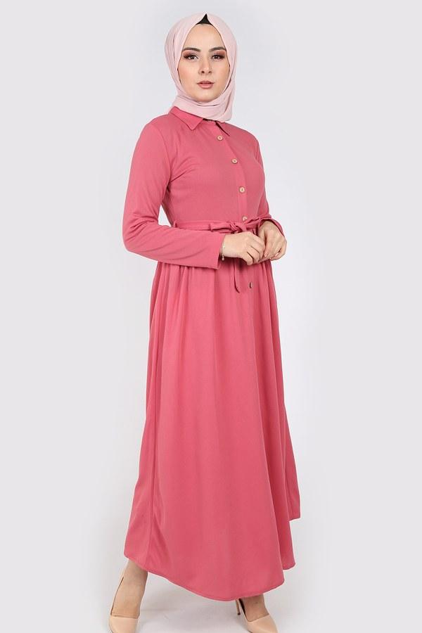 Boydan Düğmeli Elbise 87781-07