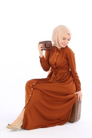 - Boydan Düğmeli Elbise 87781-08 (1)