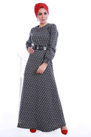 - Kemerli Elbise 3770-01