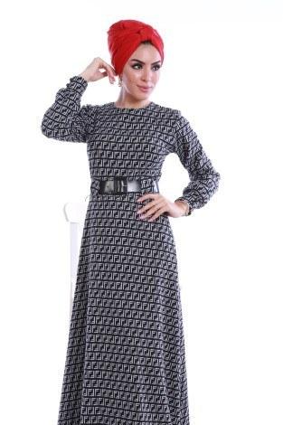 - Kemerli Elbise 3770-01 (1)
