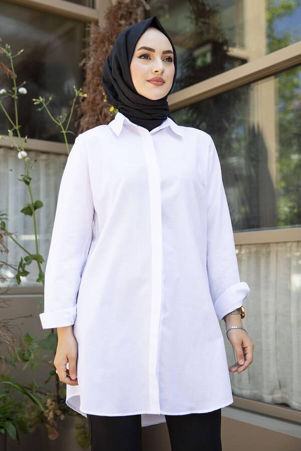 Boyfriend Gömlek 100MD-10102 Beyaz