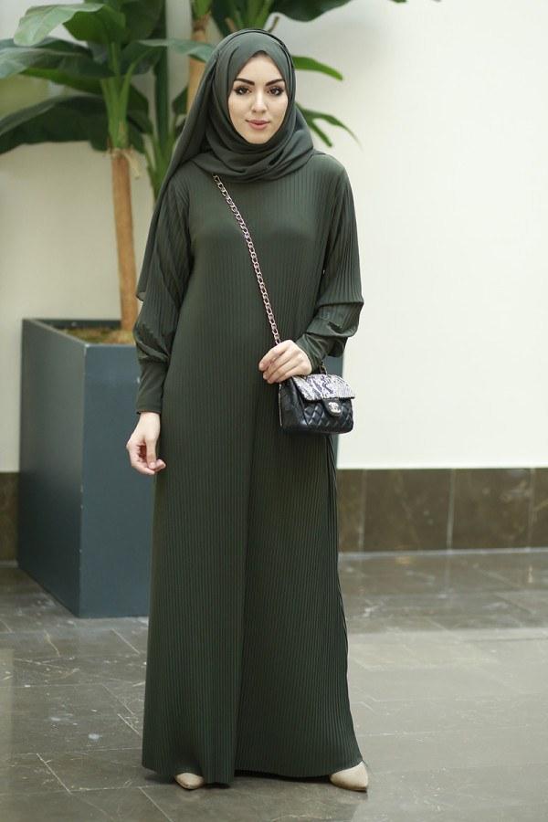 Boydan Piliseli Elbise 8380-1