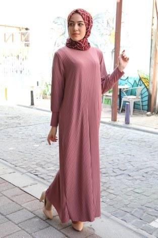- Boydan Piliseli Elbise 8380-16