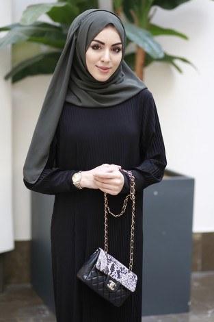 - Boydan Piliseli Elbise 8380-2-siyah (1)