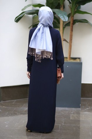 Boydan Piliseli Elbise 8380-6 - Thumbnail