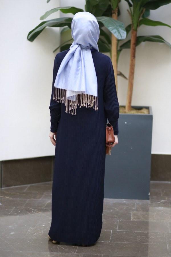 Boydan Piliseli Elbise 8380-6