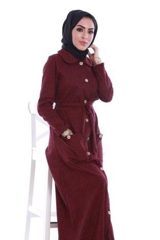 - Boydan Tahta Düğmeli Elbise 6615-02 (1)