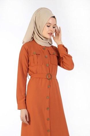 - BoydanDüğmeli Elbise 6071-16 (1)