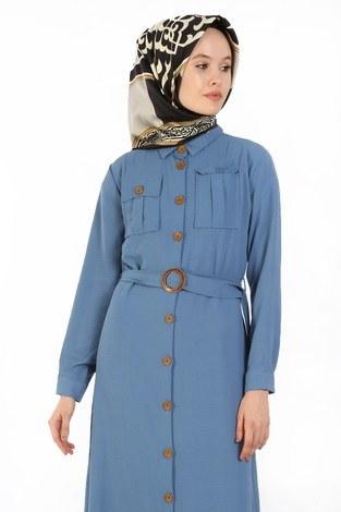 - BoydanDüğmeli Elbise 6071-09 (1)