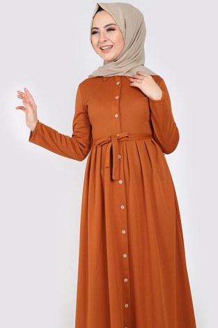 - Boydan Düğmeli Elbise 87781-011 (1)