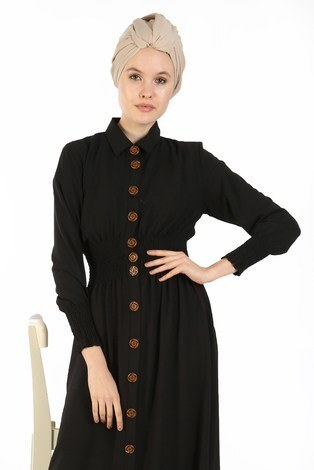 - Büzgü Detaylı Elbise 6061-01 (1)