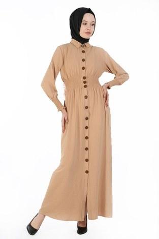 - Büzgü Detaylı Elbise 6061-11