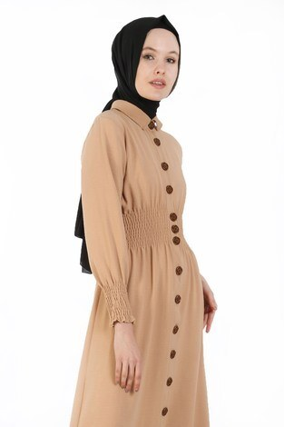 - Büzgü Detaylı Elbise 6061-11 (1)