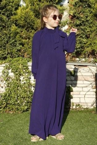 - Büzgülü Çocuk Ferace Elbise 9804-29 (1)