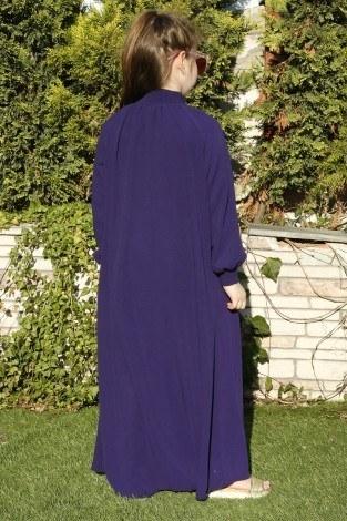Büzgülü Çocuk Ferace Elbise 9804-29 - Thumbnail
