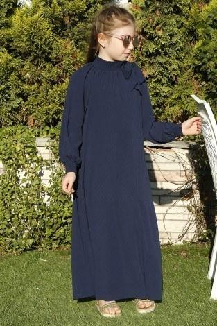 Büzgülü Çocuk Ferace Elbise 9804-30 - Thumbnail