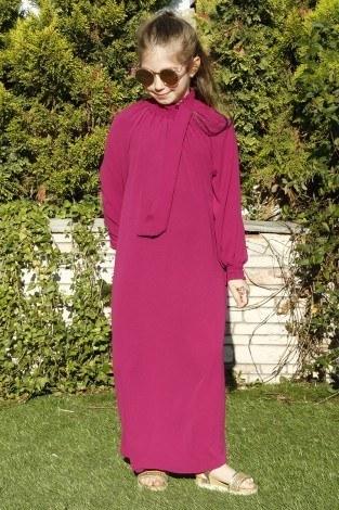 - Büzgülü Çocuk Ferace Elbise 9804-31 (1)