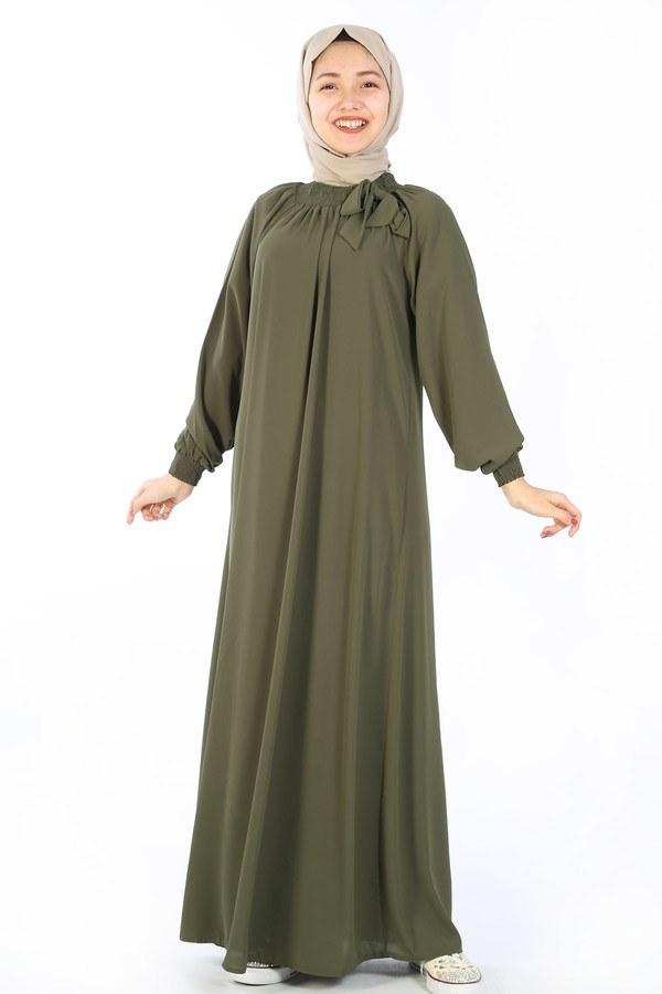 Büzgülü Çocuk Ferace Elbise 9804-18