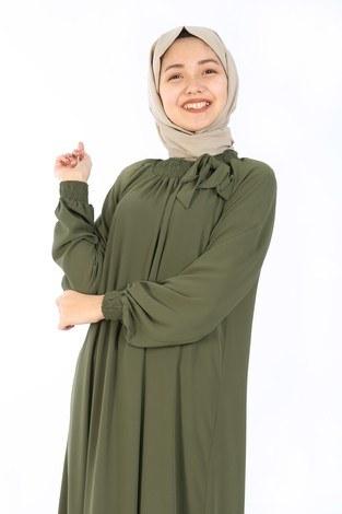 - Büzgülü Çocuk Ferace Elbise 9804-18 (1)