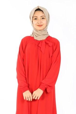 - Büzgülü Çocuk Ferace Elbise 9804-25 (1)