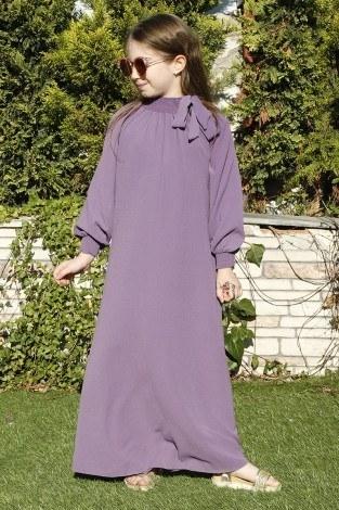 - Büzgülü Çocuk Ferace Elbise 9804-28 (1)