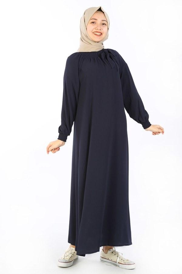 Büzgülü Çocuk Ferace Elbise 9804-8