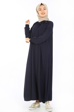 - Büzgülü Çocuk Ferace Elbise 9804-8