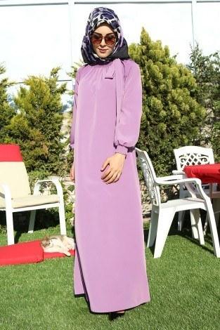 - Büzgülü Ferace Elbise 1004-103 (1)