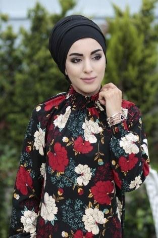 - Büzgülü Ferace Elbise 1004-116 (1)