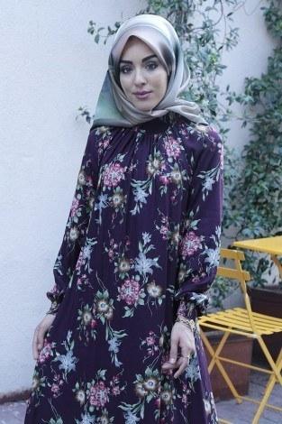 - Büzgülü Ferace Elbise 1004-123 (1)