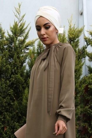 - Büzgülü Ferace Elbise 1004-130 (1)