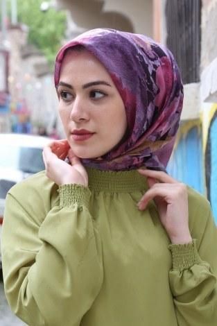 - Büzgülü Ferace Elbise 1004-144 (1)