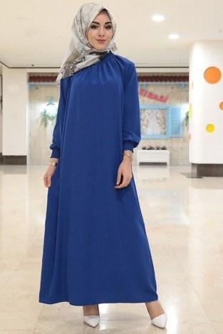 - Büzgülü Ferace Elbise 1004-15 (1)