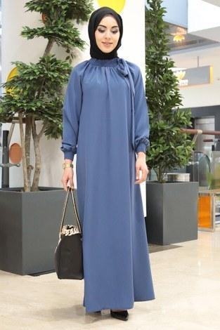 - Büzgülü Ferace Elbise 1004-57 (1)