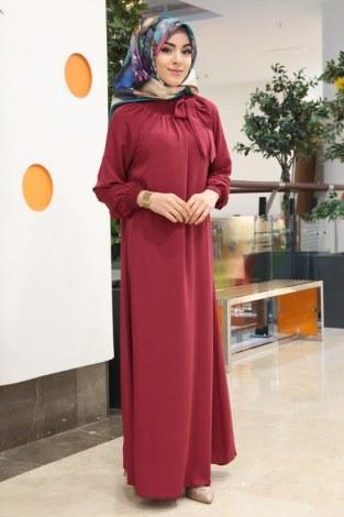 - Büzgülü Ferace Elbise 1004-71 (1)