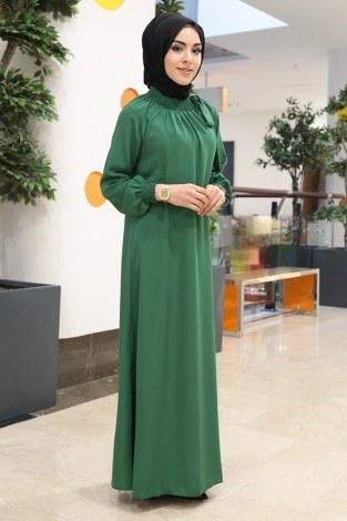 - Büzgülü Ferace Elbise 1004-100 (1)