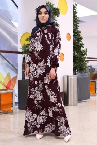 - Büzgülü Ferace Elbise 1004-101 (1)