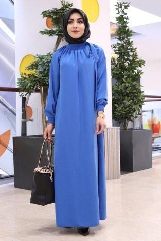- Büzgülü Ferace Elbise 1004-67 (1)