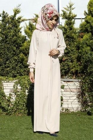 - Büzgülü Ferace Elbise 1004-13 (1)