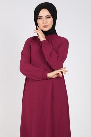- Büzgülü Ferace Elbise 1004-400 (1)