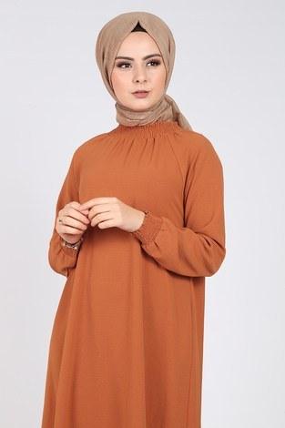 - Büzgülü Ferace Elbise 1004-403 (1)