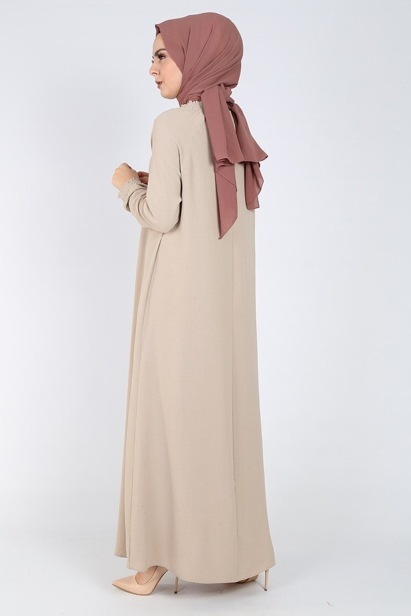 Büzgülü Ferace Elbise 1004-405