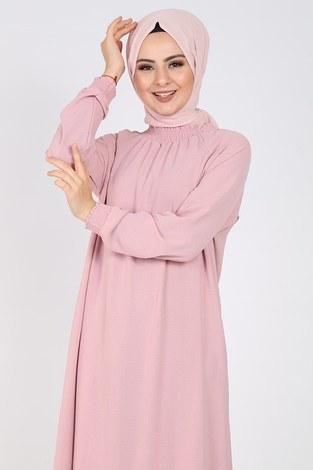 - Büzgülü Ferace Elbise 1004-406 (1)