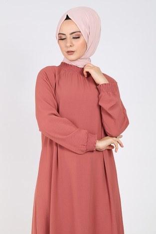 - Büzgülü Ferace Elbise 1004-407 (1)