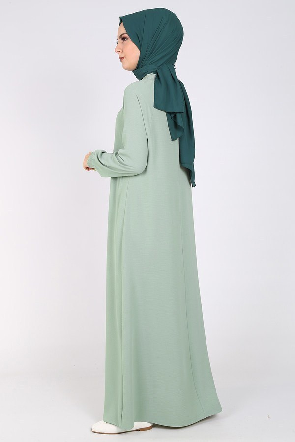 Büzgülü Ferace Elbise 1004-409