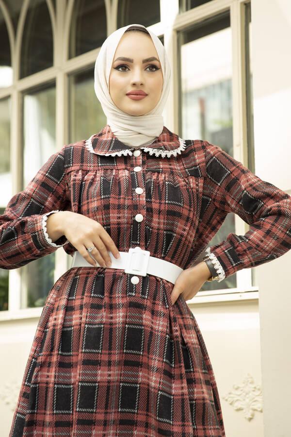 Çalıkuşu Elbise 100MD10107 Gül Kurusu