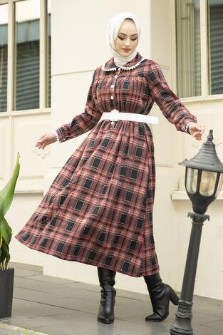 Çalıkuşu Elbise 100MD10107 Gül Kurusu - Thumbnail