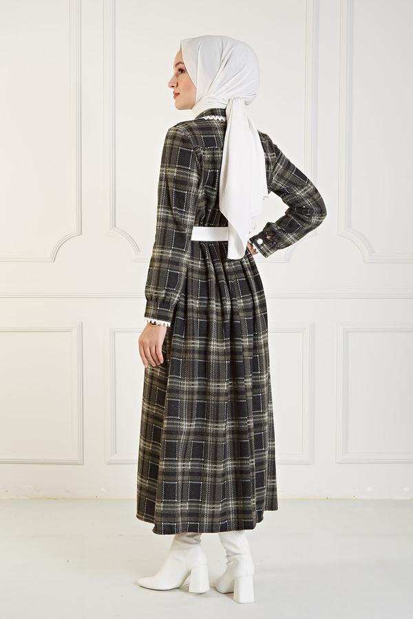 Çalıkuşu Elbise 100MD10107 Haki