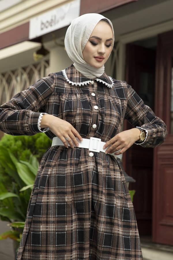 Çalıkuşu Elbise 100MD10107 Vizon