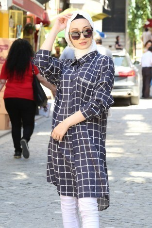 Cebi Taşli Desenli Gömlek 5728-03 - Thumbnail